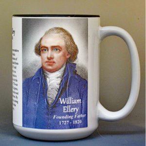 William Ellery, Declaration of Independence signatory biographical history mug.