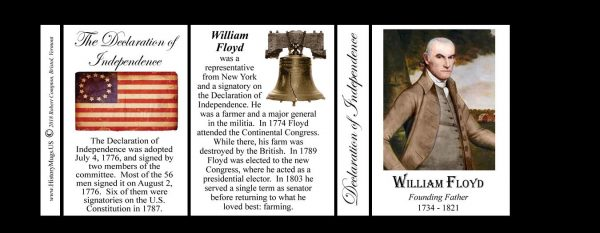 William Floyd Declaration of Independence signatory history mug tri-panel.