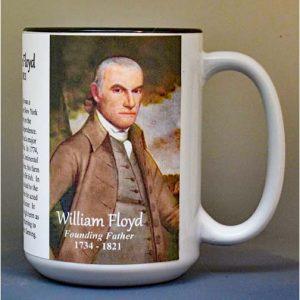 William Floyd, Declaration of Independence signatory biographical history mug.