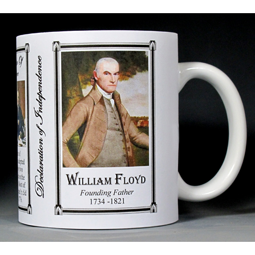 William Floyd Declaration of Independence signatory history mug.