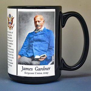 James Daniel Gardner, Medal of Honor Union Army, US Civil War biographical history mug.