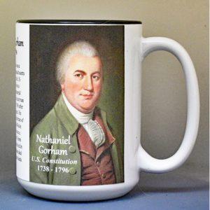 Nathaniel Gorham, US Constitution signatory biographical history mug.
