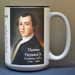 Thomas Heyward Jr, Declaration of Independence signatory biographical history mug.
