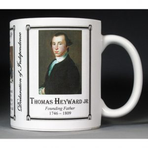 Thomas Heyward Jr. Declaration of Independence signatory history mug.