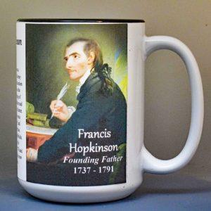 Francis Hopkinson, Declaration of Independence signatory biographical history mug.