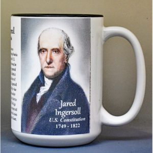 Jared Ingersoll, US Constitution signatory biographical history mug.