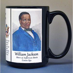 William Jackson, Civil War spy for the Union, biographical history mug.