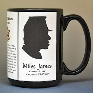 Miles James, Medal of Honor, US Civil War biographical history mug.