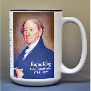 Rufus King, US Constitution signatory biographical history mug.