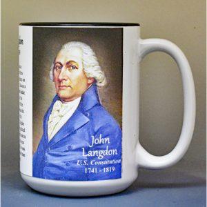 John Langdon, US Constitution signatory biographical history mug.
