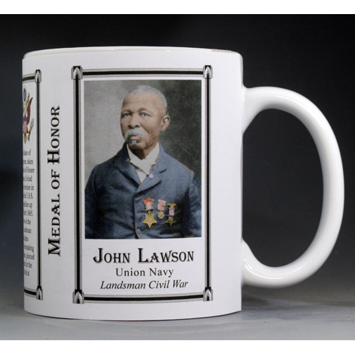 John Lawson Civil War Union soldier and Medal of Honor recipient history mug.