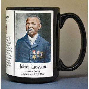 John Lawson, Medal of Honor, Union Army, US Civil War biographical history mug.