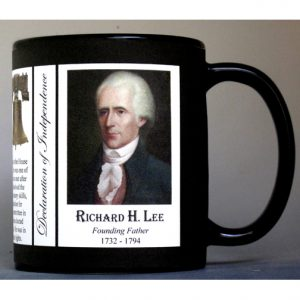 Richard Henry Lee Declaration of Independence signatory history mug.