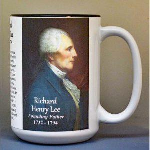 Richard Henry Lee, Declaration of Independence signatory biographical history mug.