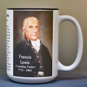 Francis Lewis, Declaration of Independence signatory biographical history mug.