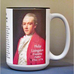 Philip Livingston, Declaration of Independence signatory biographical history mug.