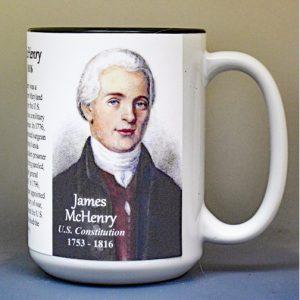 James McHenry, US Constitution signatory biographical history mug.