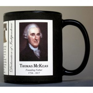 Thomas McKean Declaration of Independence signatory history mug.
