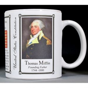 Thomas Mifflin US Constitution history mug.