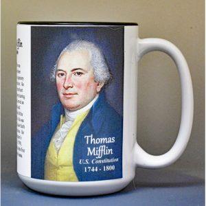 Thomas Mifflin, US Constitution signatory biographical history mug.