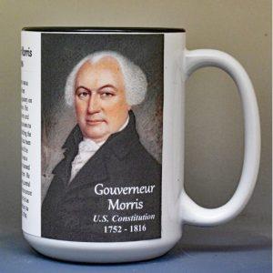 Gouverneur Morris, US Constitution signatory biographical history mug.