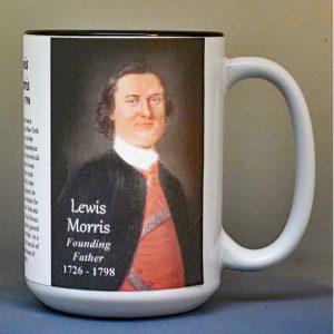 Lewis Morris, Declaration of Independence signatory biographical history mug.