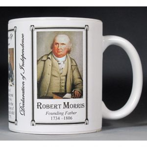 Robert Morris Declaration of Independence signatory history mug.