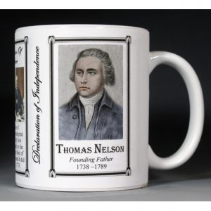 Thomas Nelson Jr. Declaration of Independence signatory history mug.