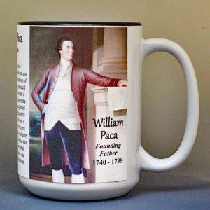 William Paca, Declaration of Independence signatory biographical history mug.