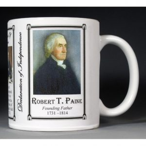 Robert Treat Paine Declaration of Independence signatory history mug.