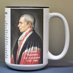 William Paterson, US Constitution signatory biographical history mug.