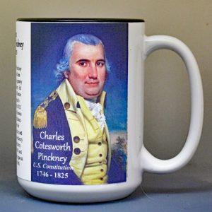 Charles Cotesworth Pinckney, US Constitution signatory biographical history mug.