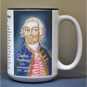 Charles Pinckney, US Constitution signatory biographical history mug.