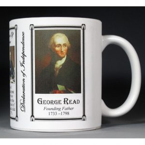 George Read signatory on the Declaration of Independence history mug.