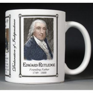 Edward Rutledge Declaration of Independence signatory history mug.