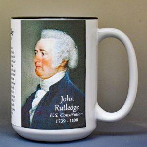 John Rutledge, US Constitution signatory biographical history mug.