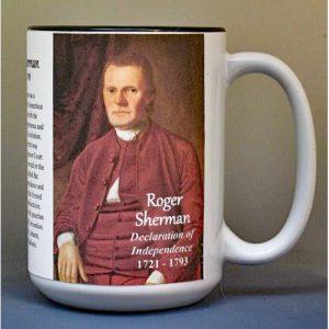 Roger Sherman, Declaration of Independence signatory biographical history mug.