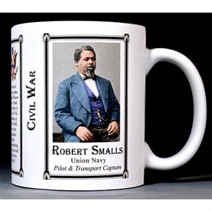 Robert Smalls Civil War Union Navy captain history mug.