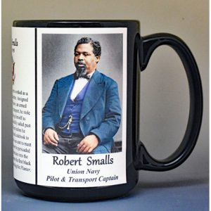 Robert Smalls, Union Navy, US Civil War biographical history mug.
