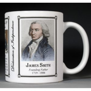 James Smith Declaration of Independence signatory history mug.