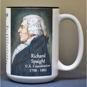 Richard Spaight, US Constitution signatory biographical history mug.