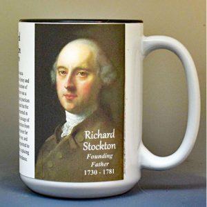 Richard Stockton, Declaration of Independence signatory biographical history mug.
