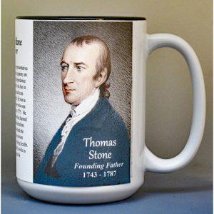 Thomas Stone, Declaration of Independence signatory biographical history mug.