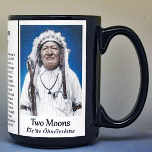 Two Moons, Native American leader biographical history mug.