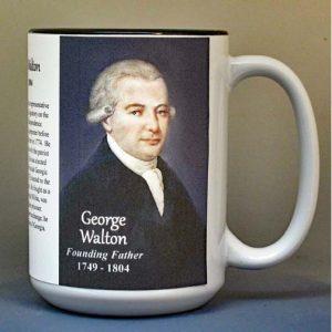 George Walton, Declaration of Independence signatory biographical history mug.