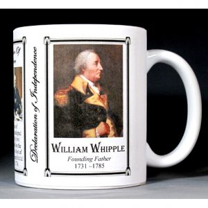 William Whipple Declaration of Independence signatory history mug.