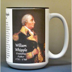 William Whipple, Declaration of Independence signatory biographical history mug.