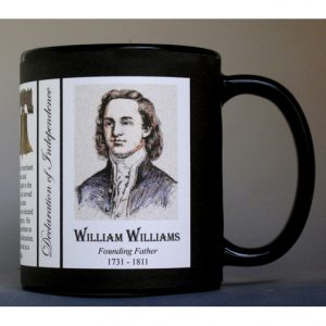 William Williams Declaration of Independence signatory history mug.
