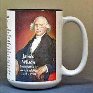 James Wilson, Declaration of Independence signatory biographical history mug.