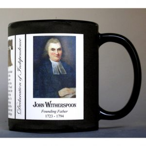 John Witherspoon Declaration of Independence signatory history mug.